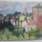 View from The Window Painting To oil On Board Original Pancaldi p9
