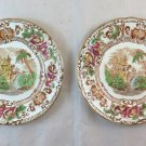 Couple Dishes Longwy Cyprus IN Ceramic Faïence France BM25