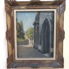 Painting Antique Signed Bolly Aosta 1932 View Church Religious Offer Ebay BM51