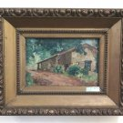 Painting Antique landscape Countryside Painting oil On Board Signed Frame BM40