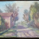 Painting Vintage Watercolour landscape Signed Emilia Romagna 12 3/16x9 1/8in