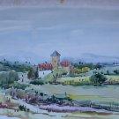 Landscape Spanish Old Painting Watercolour Opera Painter Vicente Segura MD6