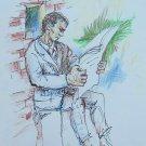 Drawing On Basket Sketch Opera Of Painter Gaetano Pancali 13x8 11/16in P28.7
