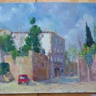 Village Spanish Old Painting To oil Signed R. Rueda Spain '900 MD3