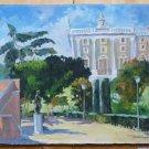 Vicente Segura(1930-2015)Painting oil View Gardens Sabatini of Madrid MD3