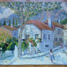 View by Country Of Sierra of Madrid Old Painting oil Signed Segura MD6