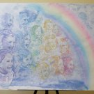 Large Painting Modern With Chorus Of Children A Technical Mixed On Basket P33.1