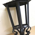 Post Wrought Iron Forged by Hand Lantern Vintage Chandelier Ch