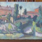 Antique Painting Format Widescreen landscape Signed With Warranty p13
