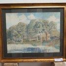 Painting Antique Painting landscape Denmark Niels Rasmussen 1847-1918 R94