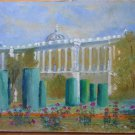 Painting oil On Board Old View Madrid Spain Palace Royal Signed MD2