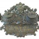 Antique Inkwell Bronze End 800 Neorinascimentale Desk Monster BM29