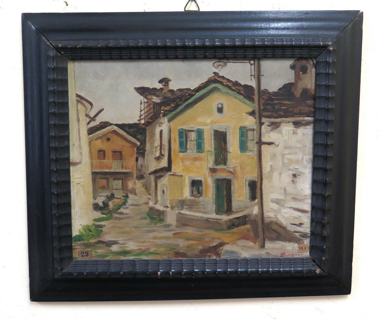 Dolphin Gagnor 1896-1970 Painting Antique landscape Balme Valli Di Lanzo BM51