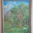 Painting oil On Linen Signed Mesturino Style Impressionist Vintage R93