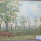 Antique Painting To oil On Board Painting landscape Countryside Original p1