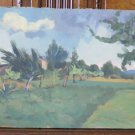 Painting Antique Period 900 Author Pancaldi landscape Countryside p17