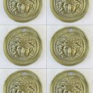 6 Handles for Furniture Antique Bronze A Locket Frieze Accessories Round CH29
