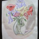 10 3/16x13 3/8in Painting Floral Poppies Opera D'Art Of Painter G Pancaldi
