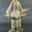 Figurine Of Porcelain Capodimonte Gino Piebald Panettiere Trade Vintage PS13
