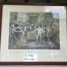 Engraving Antique Oliver Cromwell Dissout The Parlement D'Angleterre Print