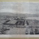 Large engraving Antique View - Individual Arsenal Of Spice Framed XIX Century