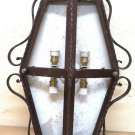 Appllique Wall Wrought Iron Made by Hand Vintage Artisan Ch