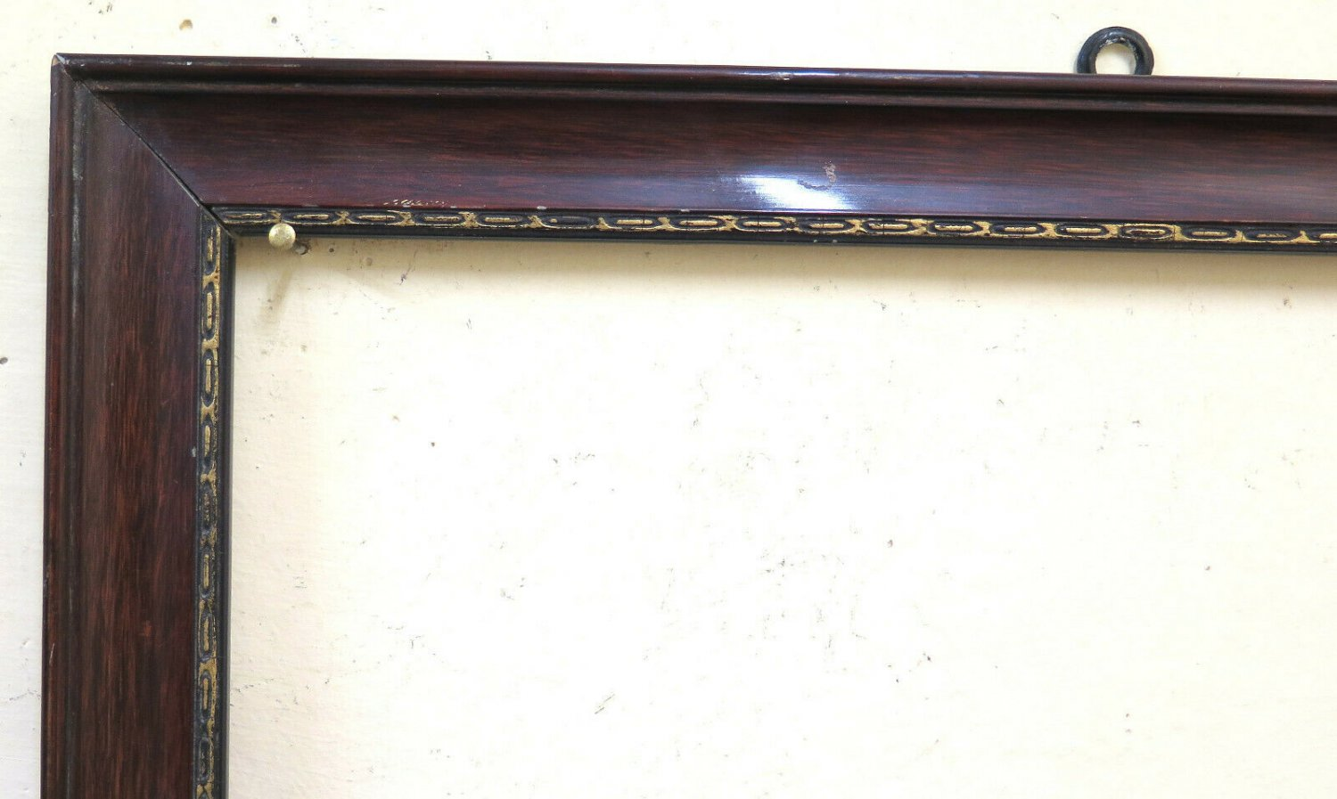 17 11/16x24 13/16in Old Frame For Paintings Painted Wooden Half '900 C GR10