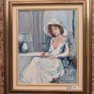 Maestro Del 900 Painting oil On Linen Portrait Feminine Style Impressionist c3