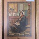 Antique engraving Colour Bornholm Denmark Woman IN Clothing Period Portrait R114