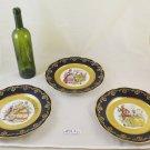 3 Dishes Porcelain Of Limoges France The Roi Vintage Ceramics Gold Golden PS5