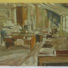 Painting Antique Painting oil On Board Inside Screen Studio Of Painter A Modena