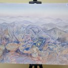 Painting Vintage With The Technical Of Frost landscape Appennino Emiliano P31