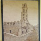 Pyrography On Wood Lea Quality' Spain Drawing Painting Vintage X8