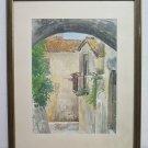 Landscape Scorcio of A Antique Borgo Of Liguria Painting To Watercolour G3