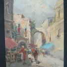 Painting oil On Board Signed Scene of Life Daily To Market Signed X9
