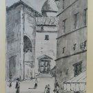 Genova Centrepiece Historic Painting Vintage Watercolour On Basket View G38