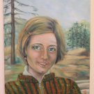 Painting oil Hand Painted Original Signed Portrait Of Young Woman MTB1