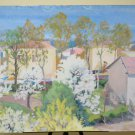 39 13/16x27 5/8in Painting Vintage To Watercolour landscape View Country P32