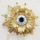 Ceiling Light Golden Vintage Wrought Iron Flower Magnolia Wall CH19