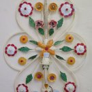 Wall with Flowers Wrought Iron Style Floral Vintage Made by Hand Light CH-10