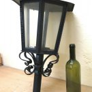 Old Post Wrought Iron Forged by Hand Lantern Vintage Chandelier Ch