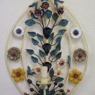 Wall Light Classic Wrought Iron Made by Hand Vintage with Flowers CH-17