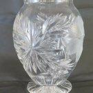 Vase Of Crystal Vintage Collection Decorated Designs Floral Beginning 900 R119