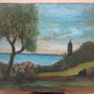 Campanile IN Hamlet Rollo Andora Savona Painting landscape Painting To oil vb2
