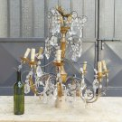 Chandelier Classic Genovese Vintage 8 Lights Copper And Crystal Living Room Ch