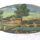 Engraving Vintage Souvenir Remembrance Of Grnoble On Wood landscape France BM39