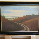 Antique landscape Nordic Painting oil On Linen Denmark First `S R93