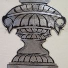 Frieze Decorative Wrought Iron Made by Hand Half '900 Vintage Vase CH13 76