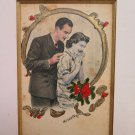 Engraving Watercolour Vintage Signed Gambetta Love My With Certificate G24