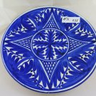 Large plate IN Ceramic Painted Wall Hand Painted Blue White R35